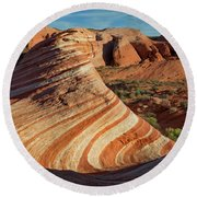 Valley Of Fire Xiv Round Beach Towel