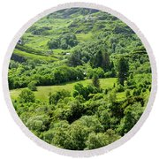 Valley Of Green Round Beach Towel