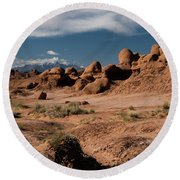 Valley Of The Goblins Round Beach Towel