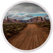 Valley Of The Gods Round Beach Towel