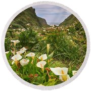 Valley Of The Lilies Round Beach Towel