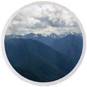 Round Beach Towel featuring the photograph Valley Of The Olympics by Tikvah's Hope
