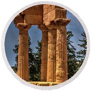 Valley Of The Temples I Round Beach Towel