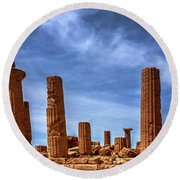 Valley Of The Temples IIi Round Beach Towel