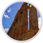 Valley Of The Temples Iv Round Beach Towel