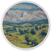 Valley Schweiberg Round Beach Towel