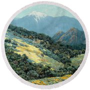 Valley Splendor Round Beach Towel