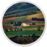 Valley Round Beach Towel