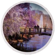 Van Gogh Bridge - Reston, Virginia Round Beach Towel