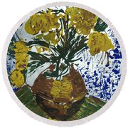 Round Beach Towel featuring the painting Van Gogh by J R Seymour
