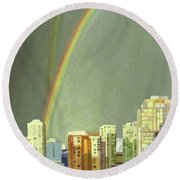 Vancouver Bc Round Beach Towel by Lynne Reichhart