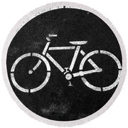 Vancouver Bike Lane- Art By Linda Woods Round Beach Towel