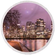 Round Beach Towel featuring the photograph Vancouver, Canada by Juli Scalzi