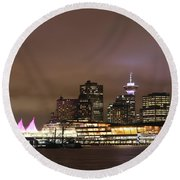 Vancouver Canada Place Round Beach Towel