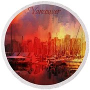 Vancouver Round Beach Towel by Eva Lechner