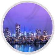 Round Beach Towel featuring the photograph Vancouver by Juli Scalzi