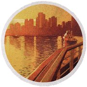 Vancouver Morning- Bc Round Beach Towel