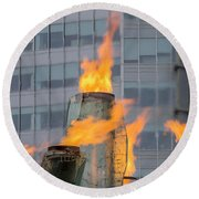 Vancouver Olympic Cauldron 2 Round Beach Towel