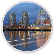 Vancouver Science World Round Beach Towel