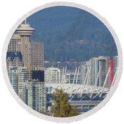 Vancouver Stadium Round Beach Towel