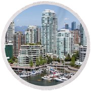 Vancouver's West End Round Beach Towel