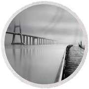 Round Beach Towel featuring the photograph Vanishing by Jorge Maia