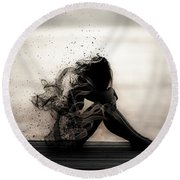 Vapours Of Sadness Round Beach Towel
