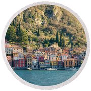 Varenna Village Round Beach Towel