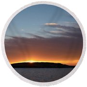 Round Beach Towel featuring the photograph Variations Of Sunsets At Gulf Of Bothnia 1 by Jouko Lehto