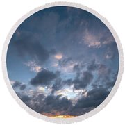 Round Beach Towel featuring the photograph Variations Of Sunsets At Gulf Of Bothnia 5 by Jouko Lehto