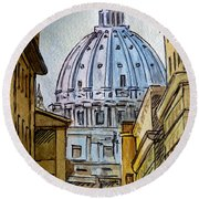 Vatican City Round Beach Towel