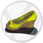 Vegas Shoes Round Beach Towel
