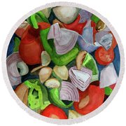 Veggies Round Beach Towel