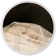 Veiled Round Beach Towel