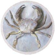 Velvet Crab Round Beach Towel