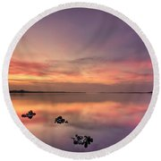 Velvet Morning Round Beach Towel