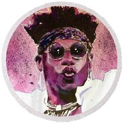 Velveteen Dream Round Beach Towel