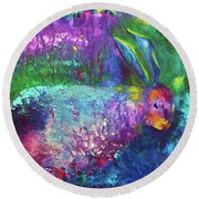 Velveteen Rabbit Round Beach Towel by Claire Bull