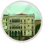 Round Beach Towel featuring the photograph Venetian Aternoon by Anne Kotan