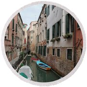 Venetian View II Round Beach Towel by Yuri Santin