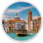 Venezia. Fermata San Marcuola Round Beach Towel