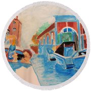 Venice Celebration Round Beach Towel