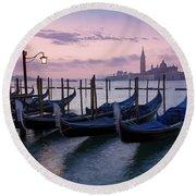 Round Beach Towel featuring the photograph Venice Dawn II by Brian Jannsen