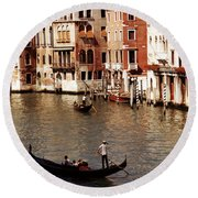 Round Beach Towel featuring the photograph Venice by Helga Novelli