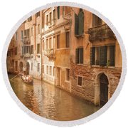 Venice Italy #1 Round Beach Towel by George Robinson
