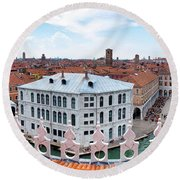 Round Beach Towel featuring the photograph Venice Rooftops by Fabrizio Troiani
