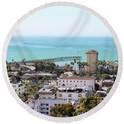 Ventura Coastal View Round Beach Towel