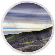 Ventura Two Sisters Round Beach Towel by Kyle Hanson