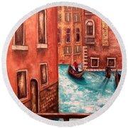 Venice Round Beach Towel by Annamarie Sidella-Felts