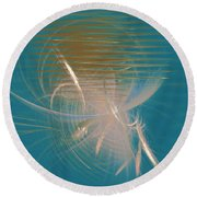 Venus Born Out Of The Sea Round Beach Towel